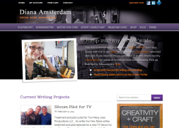 blog web design for nyc writer